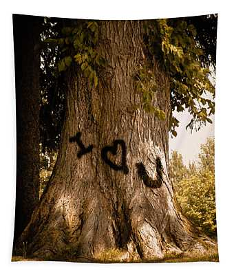 Carve I Love You In That Big White Oak Tapestry