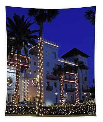 Casa Monica Inn Night Of Lights Tapestry