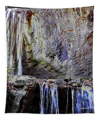 Cascading Water Solarized Tapestry