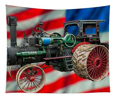 Case Steam Tractor Tapestry