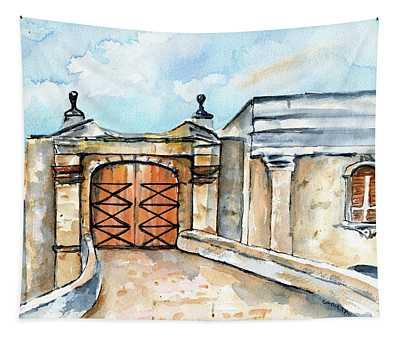 Castillo De San Cristobal Entry Gate Tapestry