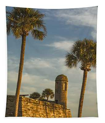 Castillo De San Marcos Dawn II Tapestry