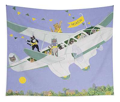 Cat Air Show Tapestry