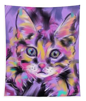 Cat Wild Thing Tapestry