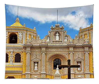 Cathedral In Antigua, Guatemala Tapestry
