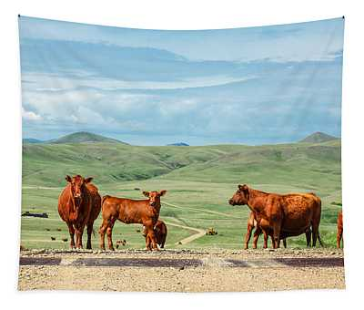 Cattle Guards Tapestry