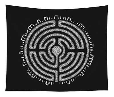 Celtic Labyrinth Mandala Tapestry