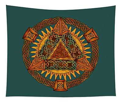Celtic Pyramid Mandala Tapestry