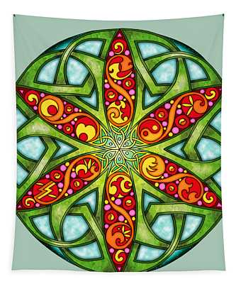 Celtic Summer Mandala Tapestry