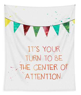 Center Of Attention- Card Tapestry