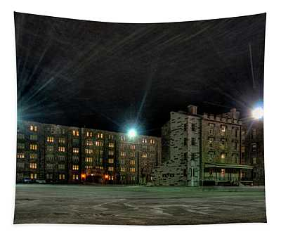 Central Area At Night Tapestry