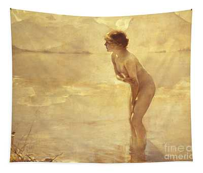 Tapestry featuring the painting Chabas, September Morn by Paul Chabas