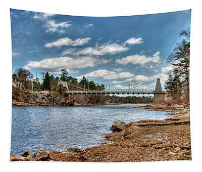 Chain Bridge On The Merrimack Tapestry