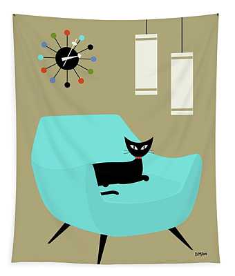Chair With Ball Clock Tapestry