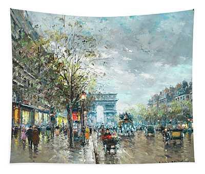 Champs Elysees Avenue, Paris Tapestry