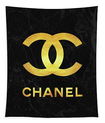 Chanel - Black And Gold - Lifestyle And Fashion Tapestry