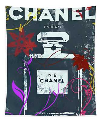 Chanel Floral Parfum Tapestry