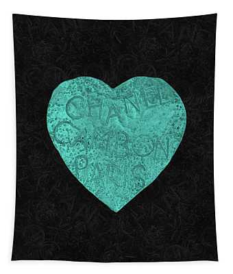 Chanel Heart-4 Tapestry