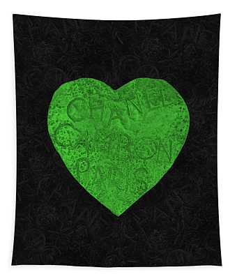Chanel Heart-5 Tapestry