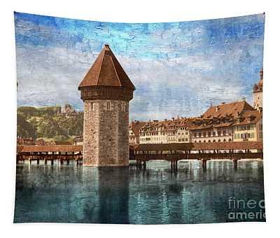 Chapel Bridge In Lucerne Tapestry