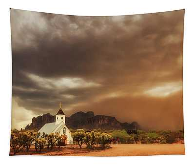 Chapel In The Storm Tapestry