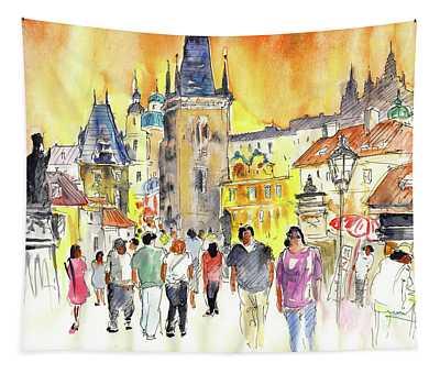 Charles Bridge In Prague In The Czech Republic Tapestry