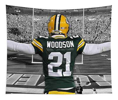 Charles Woodson Green Bay Packers Stadium Art 2 Tapestry