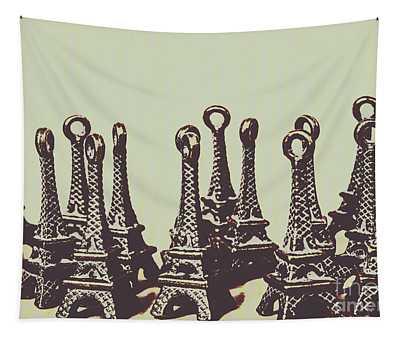 Charming Europe Landmarks Tapestry