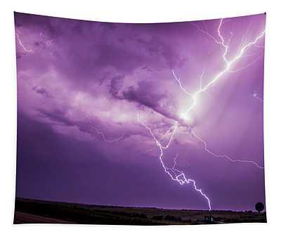 Chasing Nebraska Lightning 018 Tapestry