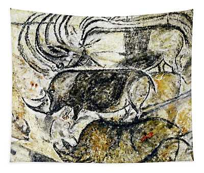 Chauvet Three Rhinoceros Tapestry