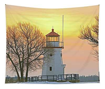 Cheboygan Harbor Light 2 Tapestry