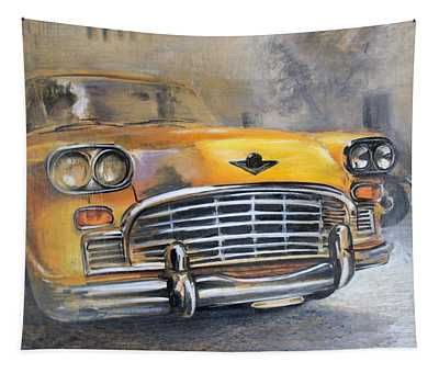 Checker Taxi Tapestry