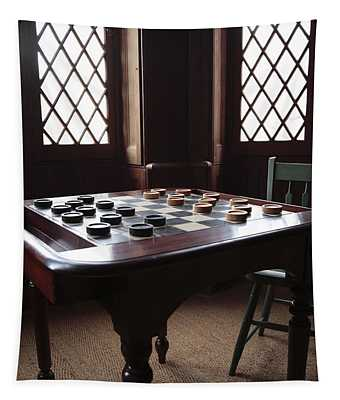 Checkers Table At The Lincoln Cottage In Washington Dc Tapestry
