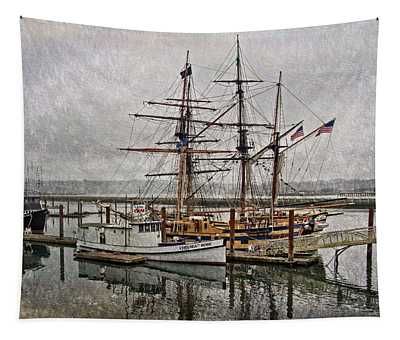 Chelsea Rose And Tall Ships Tapestry