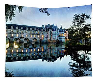 Chenonceau Twilight In Blue - Vintage Version Tapestry