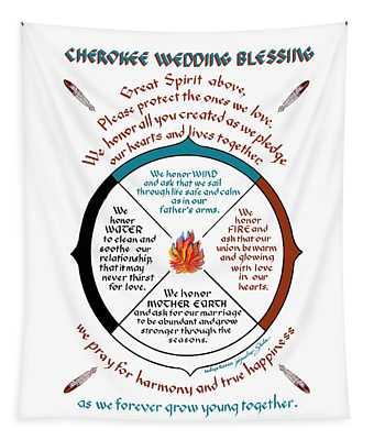 Cherokee Wedding Blessing Tapestry
