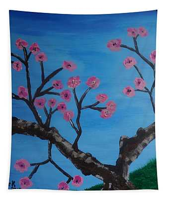 Cherry Blossoms II Tapestry