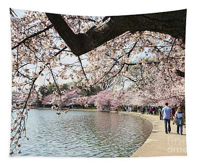 Cherry Blossom Stroll Around The Tidal Basin Tapestry