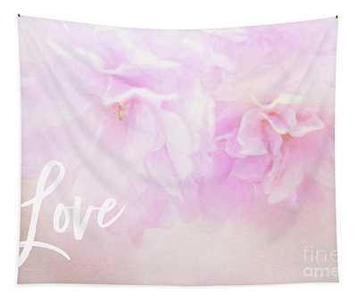 Cherry Blossom Valentine Tapestry