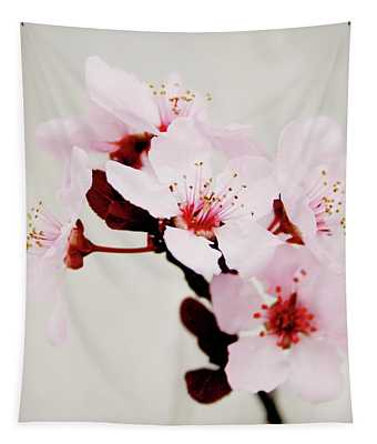Cherry Blossoms 1- Art By Linda Woods Tapestry