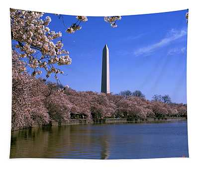 Cherry Blossoms On The Tidal Basin 15j Tapestry