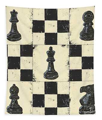 Chess Pieces Tapestry