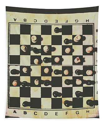 Chessboards And Playing Pieces Tapestry
