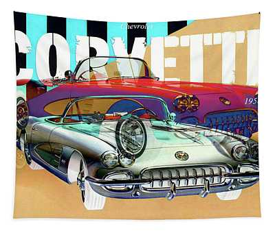 Chevrolet Corvette 1958 Convertible Tapestry