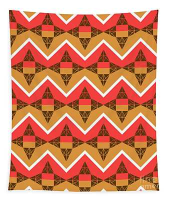 Chevron And Triangles Tapestry