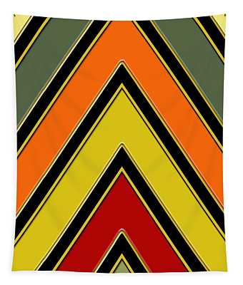 Chevrons With Color - Vertical Tapestry
