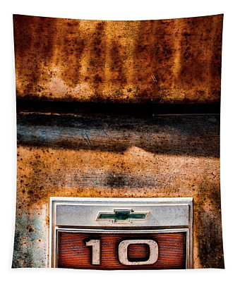 Chevy C10 Rusted Emblem Tapestry