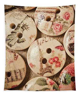 Chic Button Boutique Tapestry