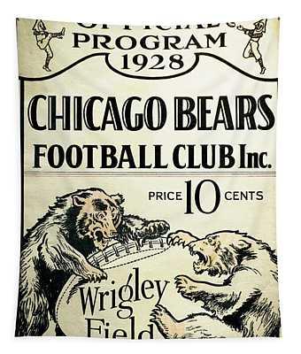 Chicago Bears Football Club Program Cover 1928 Tapestry