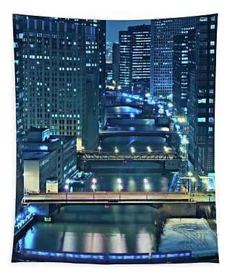 Chicago Bridges Tapestry